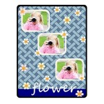 flower - Fleece Blanket (Small)