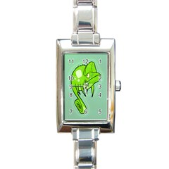 Lucky Lizard Rectangular Italian Charm Watch by Contest1780262
