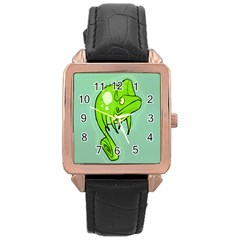 Lucky Lizard Rose Gold Leather Watch  by Contest1780262