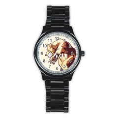 Bear Time Sport Metal Watch (black) by Contest1780262