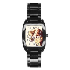 Bear Time Stainless Steel Barrel Watch by Contest1780262