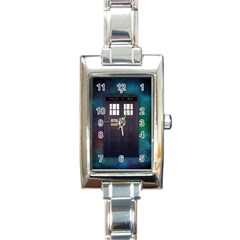 The Time Traveler Rectangular Italian Charm Watch by Contest1748470