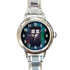 The Time Traveler Round Italian Charm Watch by Contest1748470