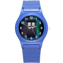 The Time Traveler Plastic Sport Watch (small) by Contest1748470