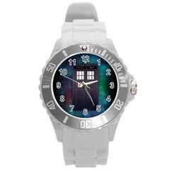 The Time Traveler Plastic Sport Watch (large) by Contest1748470