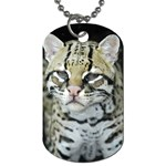 SNOW LEOPARD DOG TAG KEY RING KEYCHAIN NECKLACE