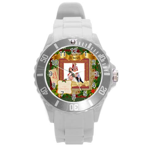 Merry Christmas By Betty   Round Plastic Sport Watch (l)   Qkceeyyu02yf   Www Artscow Com Front
