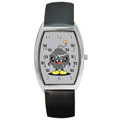 Time Bomb Tonneau Leather Watch by Contest1771648