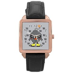 Time Bomb Rose Gold Leather Watch  by Contest1771648