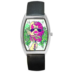 Bozo Zombie Tonneau Leather Watch by Contest1731890