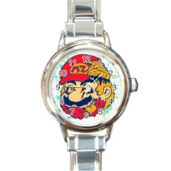 Mario Zombie Round Italian Charm Watch by Contest1731890
