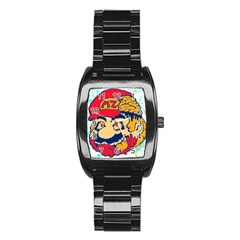 Mario Zombie Stainless Steel Barrel Watch by Contest1731890