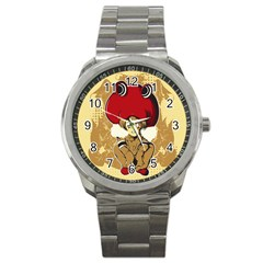 Flan Sport Metal Watch by DesignsbyReg2
