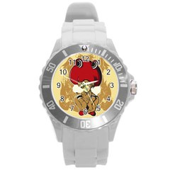 Flan Plastic Sport Watch (large) by DesignsbyReg2