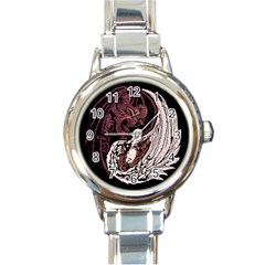 Yinyang Round Italian Charm Watch by DesignsbyReg2