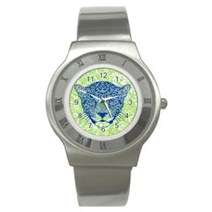 Cheetah Alarm Stainless Steel Watch (slim) by Contest1738807