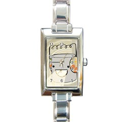 Happy Beam Rectangular Italian Charm Watch by RachelIsaacs