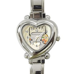 Happy Beam Heart Italian Charm Watch