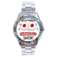 Whats Shakin Bacon? Stainless Steel Watch by Contest1804625