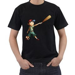 Slugger Mens' Two Sided T Shirt (black) by RachelIsaacs