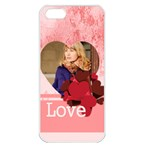 love - Apple iPhone 5 Seamless Case (White)