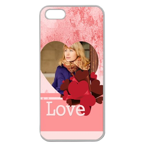 Love By Anita   Apple Seamless Iphone 5 Case (clear)   Z9u0xi9qscg3   Www Artscow Com Front