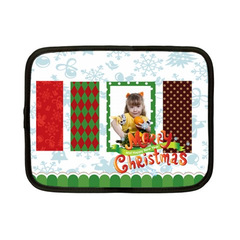 Xmas By Joely   Netbook Case (small)   V59ly7cm84h2   Www Artscow Com Front