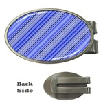 Lines Money Clip (Oval) Front
