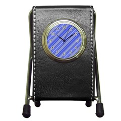 Lines Stationery Holder Clock by Siebenhuehner