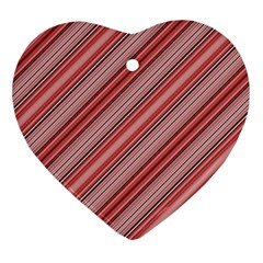 Lines Heart Ornament by Siebenhuehner