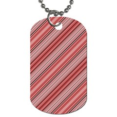 Lines Dog Tag (one Sided) by Siebenhuehner