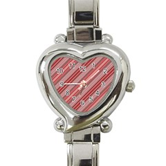 Lines Heart Italian Charm Watch  by Siebenhuehner
