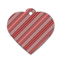 Lines Dog Tag Heart (one Sided)  by Siebenhuehner
