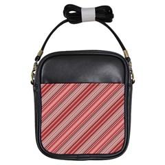 Lines Girl s Sling Bag by Siebenhuehner
