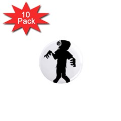 Zombie Boogie 1  Mini Button Magnet (10 Pack) by willagher