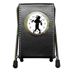 Zombie Boogie Stationery Holder Clock by willagher