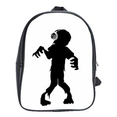 Zombie boogie School Bag (Large) by willagher