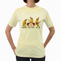 Bandana Banana Band  Womens  T Shirt (yellow)