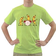 Bandana Banana Band Mens  T Shirt (green)