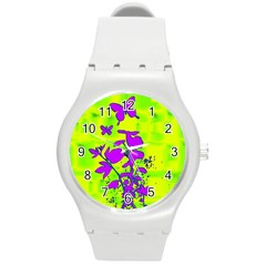 Butterfly Green Plastic Sport Watch (medium) by uniquedesignsbycassie