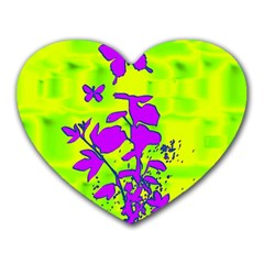 Butterfly Green Mouse Pad (heart) by uniquedesignsbycassie