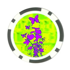 Butterfly Green Poker Chip (10 Pack) by uniquedesignsbycassie