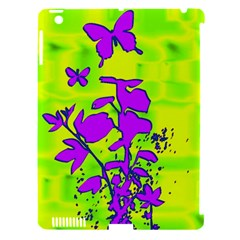 Butterfly Green Apple Ipad 3/4 Hardshell Case (compatible With Smart Cover) by uniquedesignsbycassie