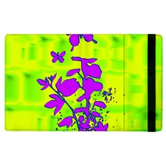 Butterfly Green Apple Ipad 2 Flip Case by uniquedesignsbycassie