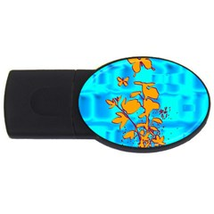 Butterfly Blue 4GB USB Flash Drive (Oval) by uniquedesignsbycassie