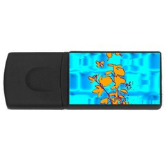 Butterfly Blue 4gb Usb Flash Drive (rectangle)