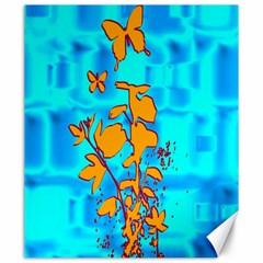 Butterfly Blue Canvas 20  X 24  (unframed) by uniquedesignsbycassie
