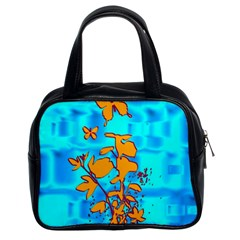 Butterfly Blue Classic Handbag (two Sides) by uniquedesignsbycassie