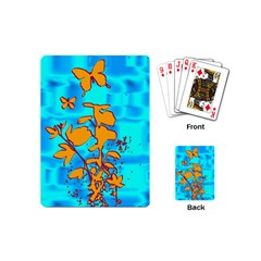 Butterfly Blue Playing Cards (Mini) by uniquedesignsbycassie
