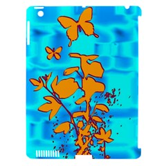 Butterfly Blue Apple Ipad 3/4 Hardshell Case (compatible With Smart Cover) by uniquedesignsbycassie